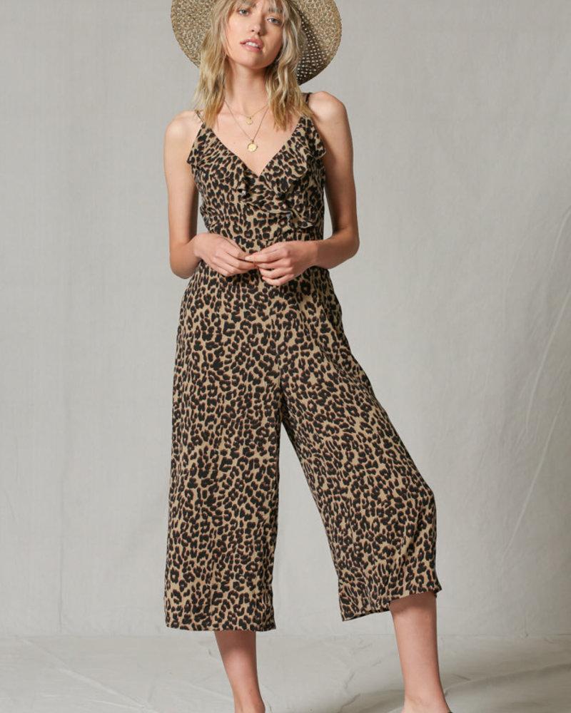 Leopard Jumpsuit w/ Pockets
