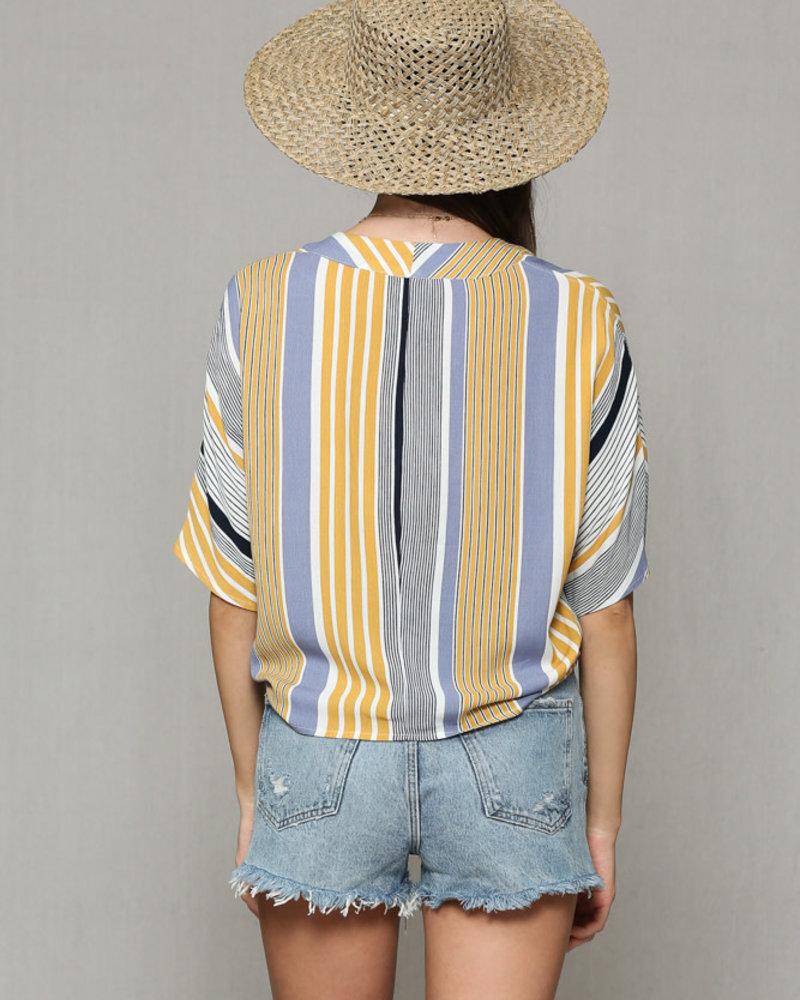 Stripe Blouse w/ Tie
