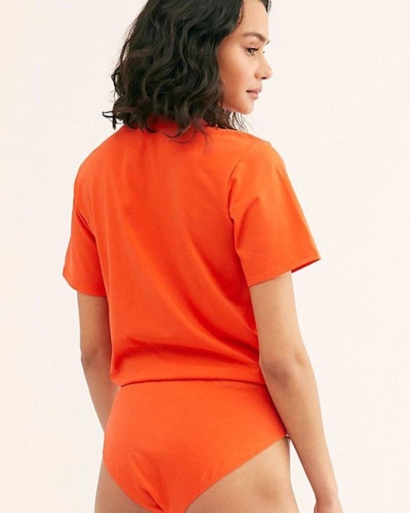 Free People In My Tee Bodysuit | Orange