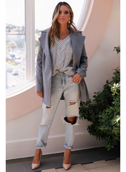 Harlem Short Coat | Grey