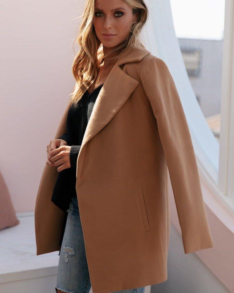 Harlem Short Coat   Camel