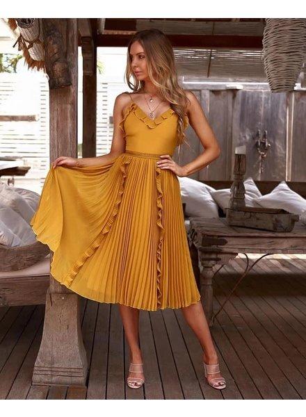 Maia Dress | Mustard