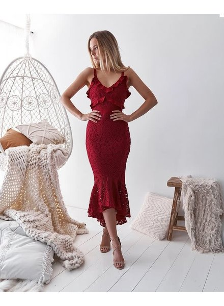 Leanne Dress   Red