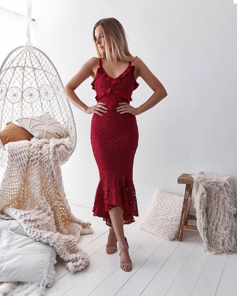 Leanne Dress | Red