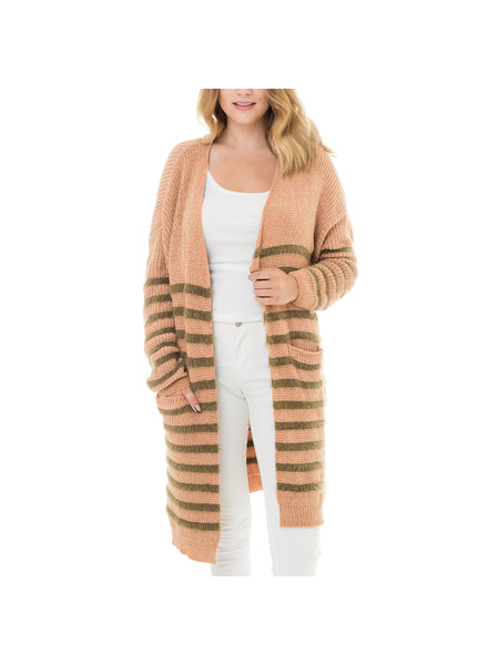 Brown Stripe Cardi