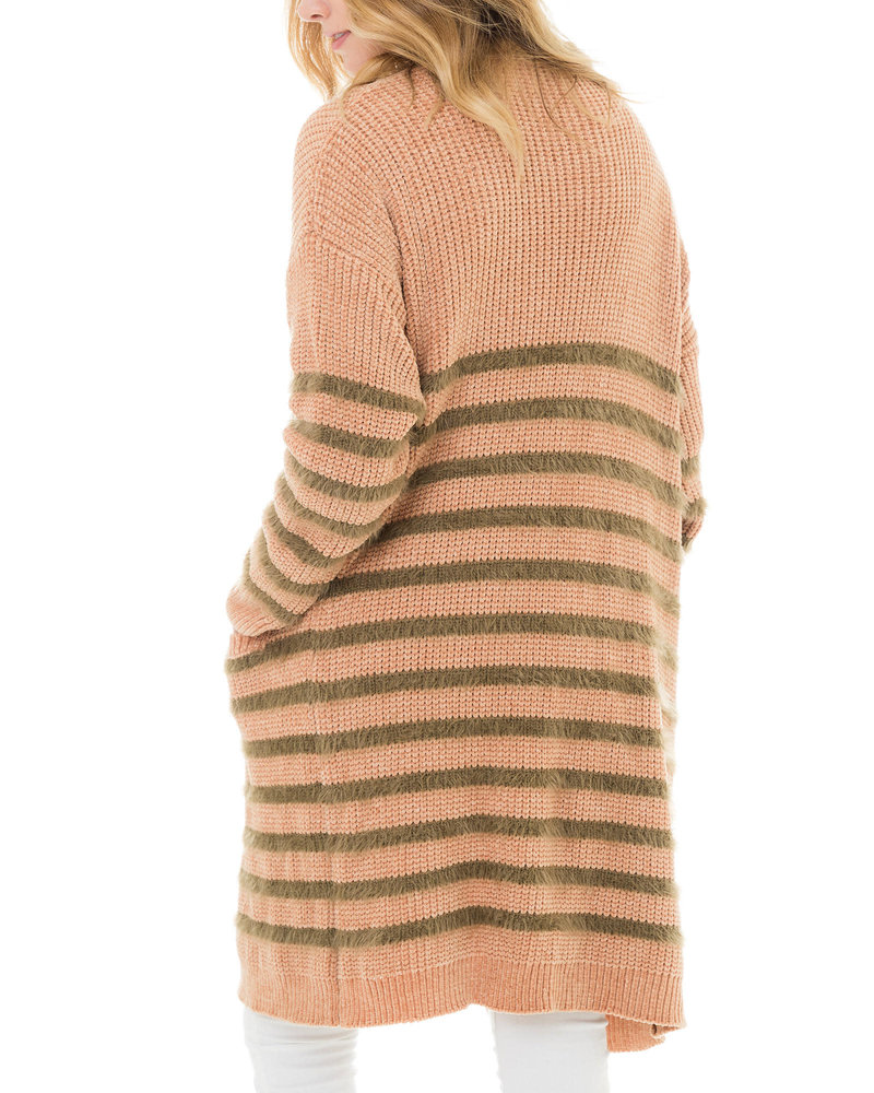 Brown Stripe Cardi