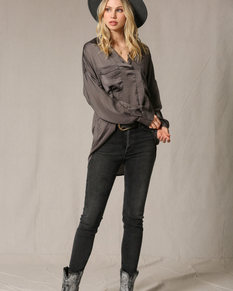 Willow Blouse | Charcoal