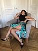 Leopard Goddess Skirt | Turquoise
