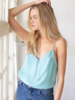 Button Down Tank | Aqua