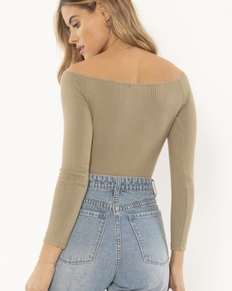Trevi Knit Bodysuit | Army