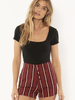 Simone Knit Bodysuit | Black