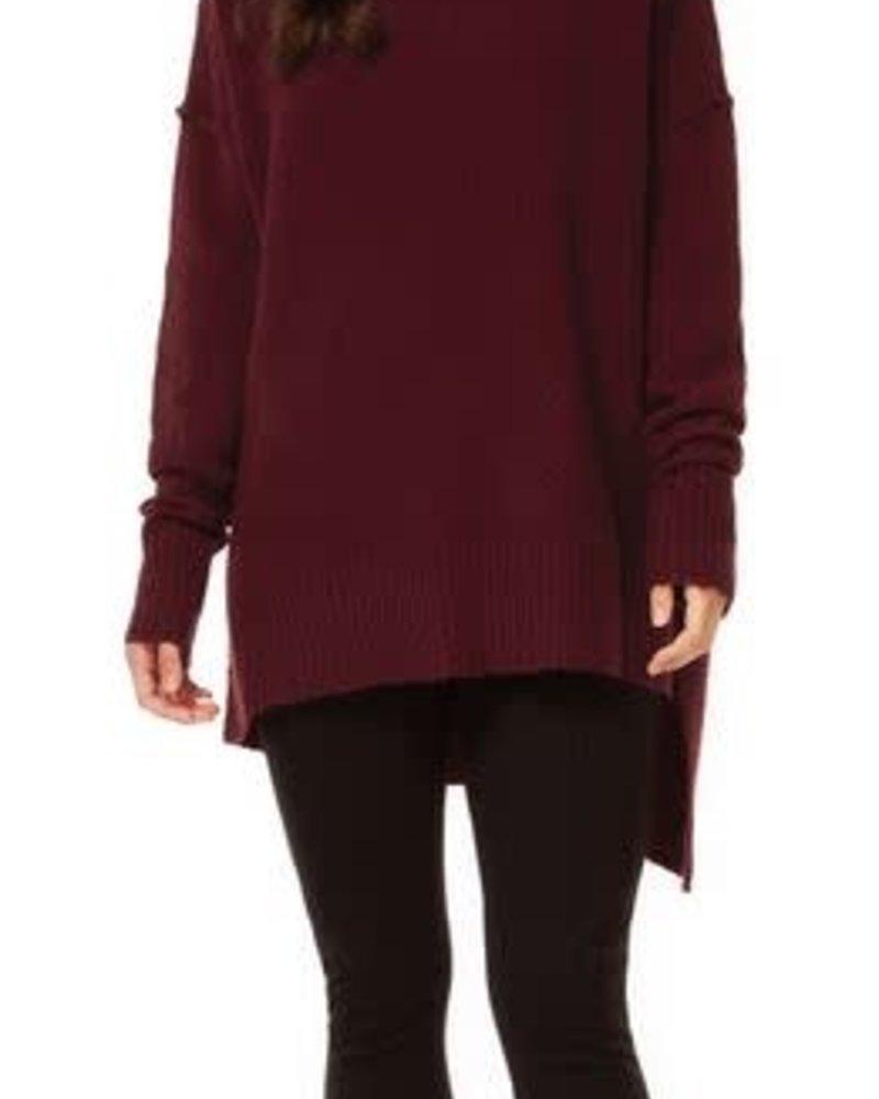 Burgundy Asymmetric Sweater