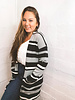 Long Stripe Sweater Cardi