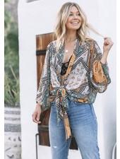 Retro Kimono Top