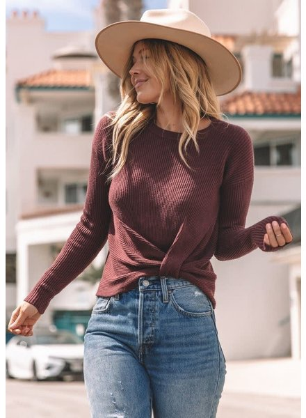 Knot Thermal   Burgundy