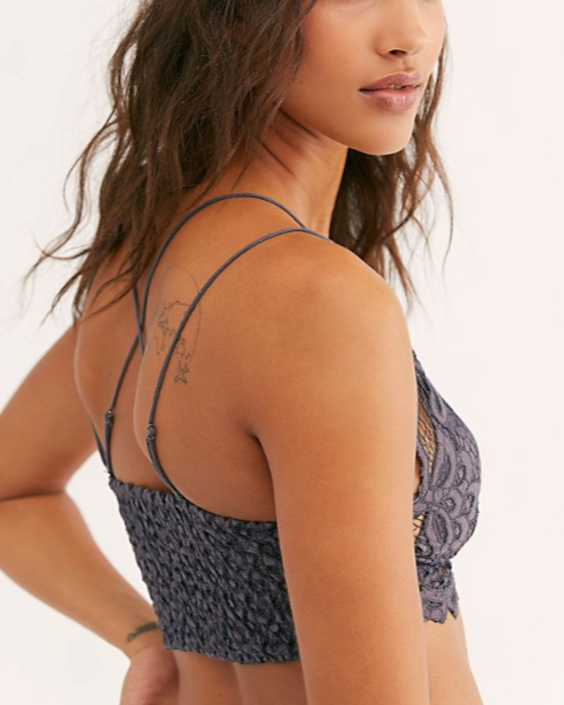 Free People Adella Bralette | Charcoal
