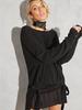 Black Off The Shoulder Knit