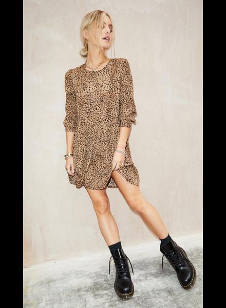 Brown Fifi Leopard Print Mini Dress