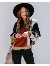 Brick Colorblock Sweater
