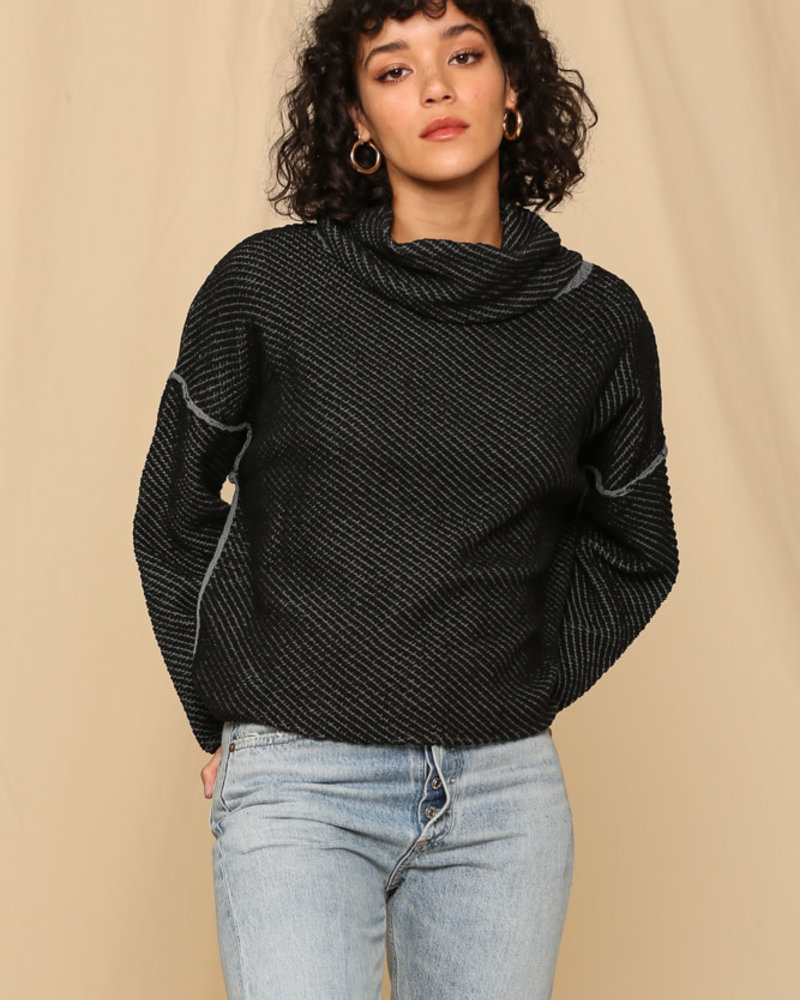 Cowl Turtleneck Pullover Sweater