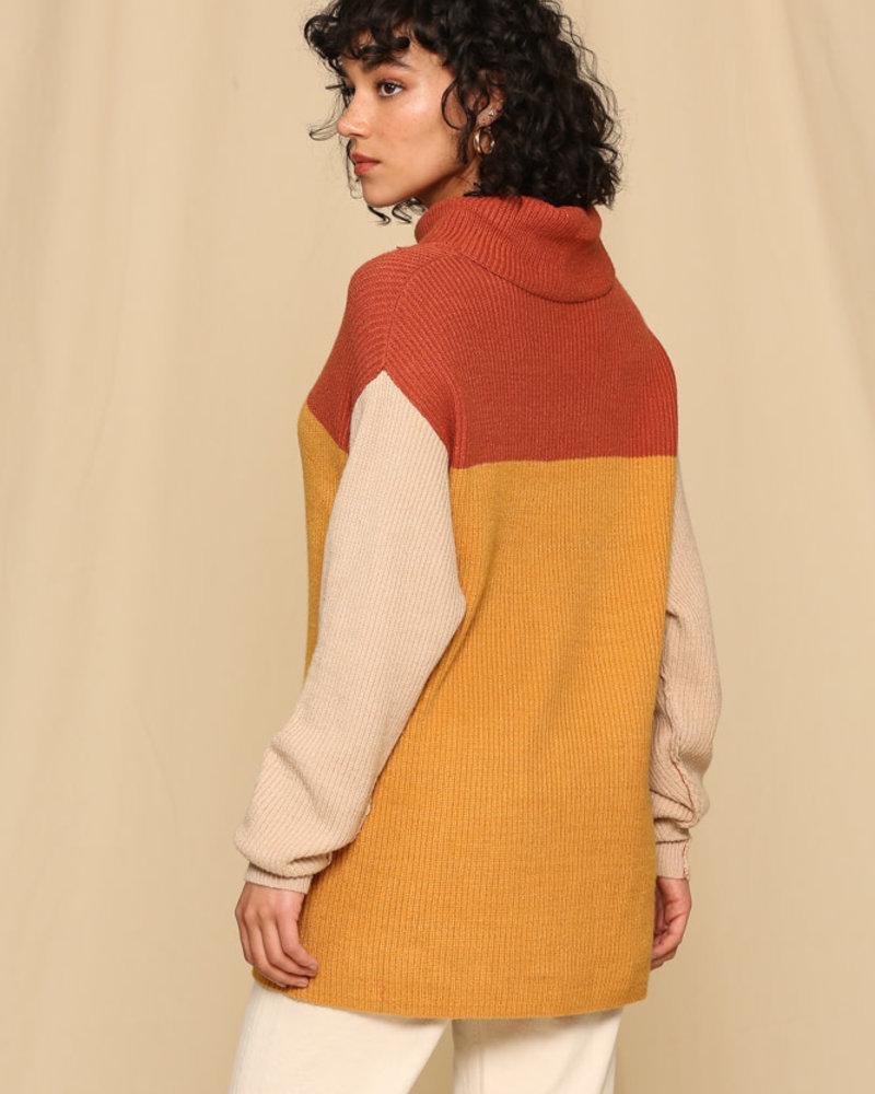 Colorblock Color Sweater