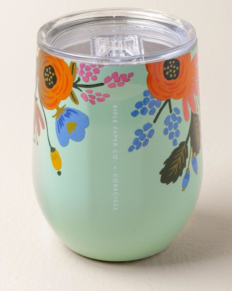 Rifle Paper Co. Stemless Gloss | Mint Lively Floral