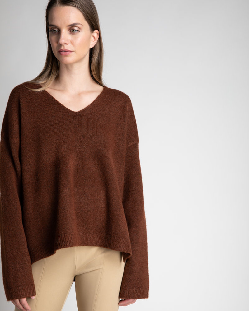 Boxy V-Neck Knit