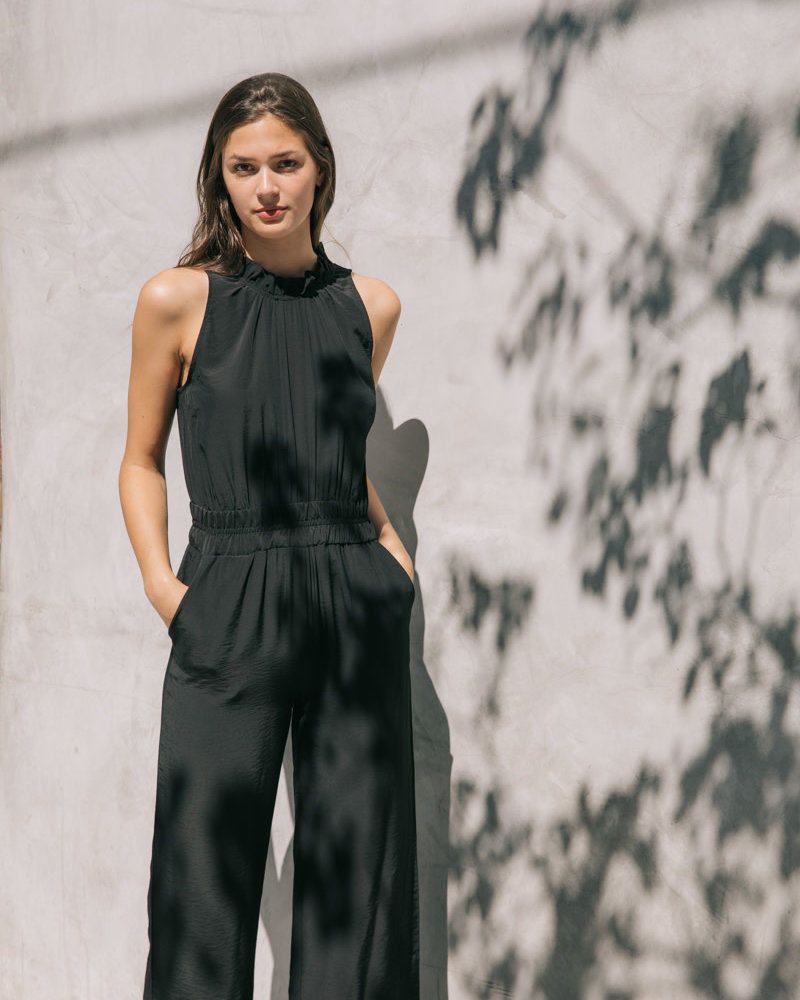 Ruffle Neck Jumpsuit