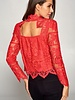 Frankie Lace Top   Red