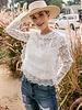 Grace Scallop Hem Lace Top | White