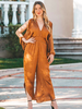 Copper Smocked Waist Jumpsuit