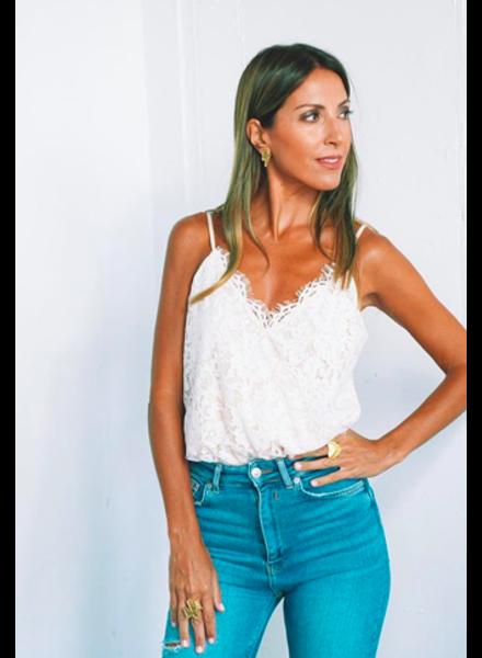 Scallop Lace Cami Bodysuit | Ivory