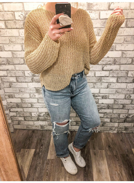 Goldie Crochet Sweater
