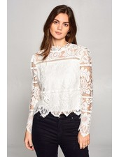 Frankie Lace Top | White