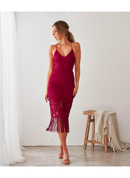 Khaleesi Dress | Burgundy