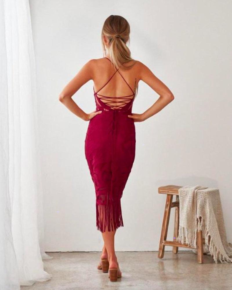 Khaleesi Dress | Burgundy