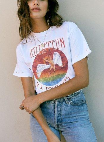 Led Zeppelin Tour 1975 Oversized Tee