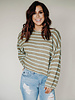 Free People Bardot Sweater | Green