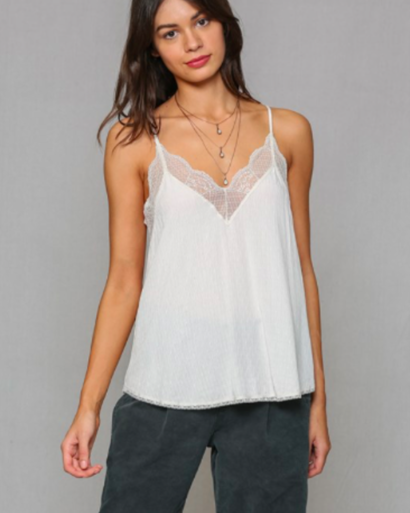 Gauze Lace Cami | Cream