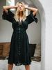 Boho Mini Ruffle Lace Dress