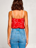 Scallop Lace Cami Bodysuit | Red