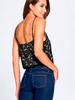 Scallop Lace Cami Bodysuit | Black