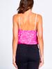 Scallop Lace Cami Bodysuit | Fuchsia