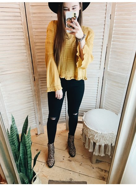 Free People Olivia Blouse | Mustard