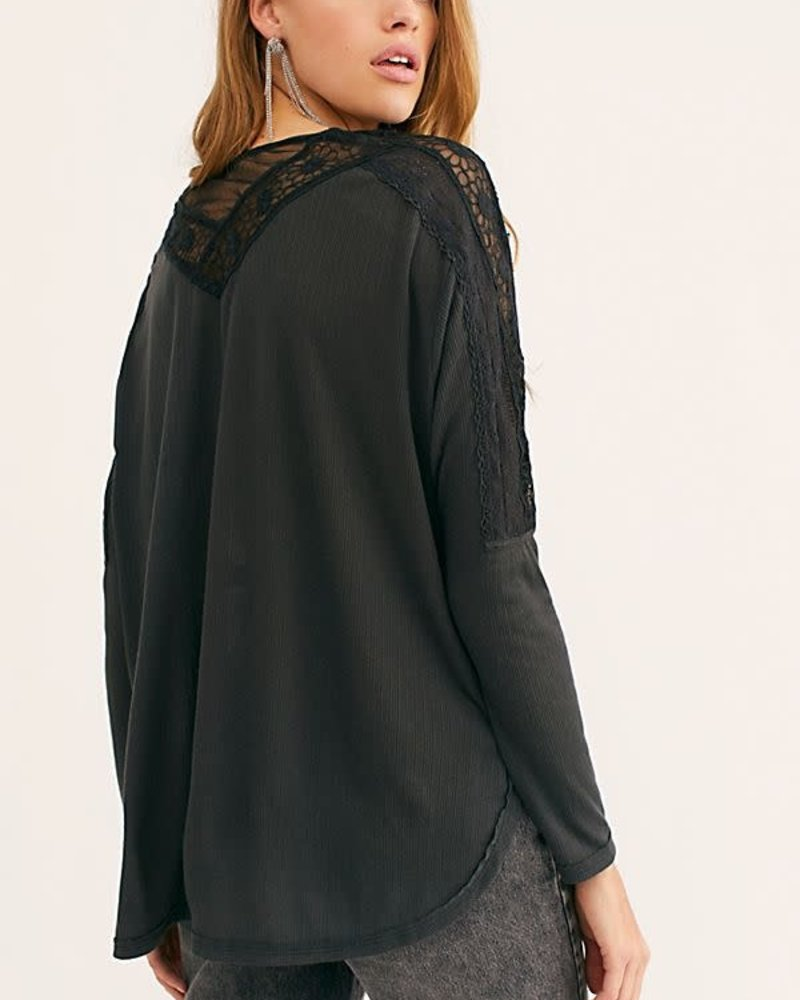 Free People Tammy Blouse | Black