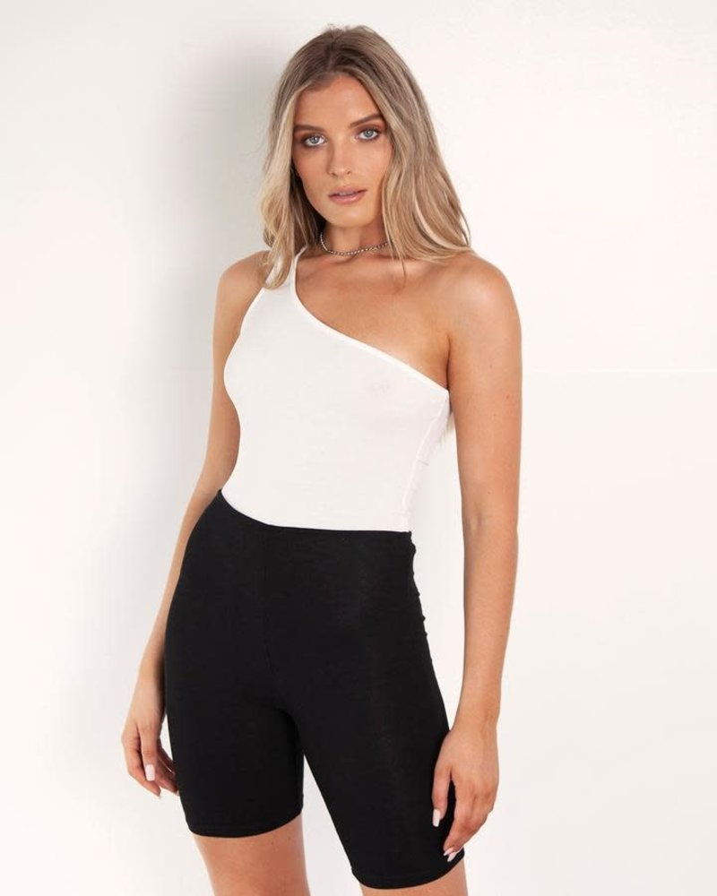 One Sided Bodysuit | White