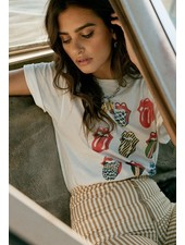 Rolling Stones 12 Tongues Boyfriend Tee