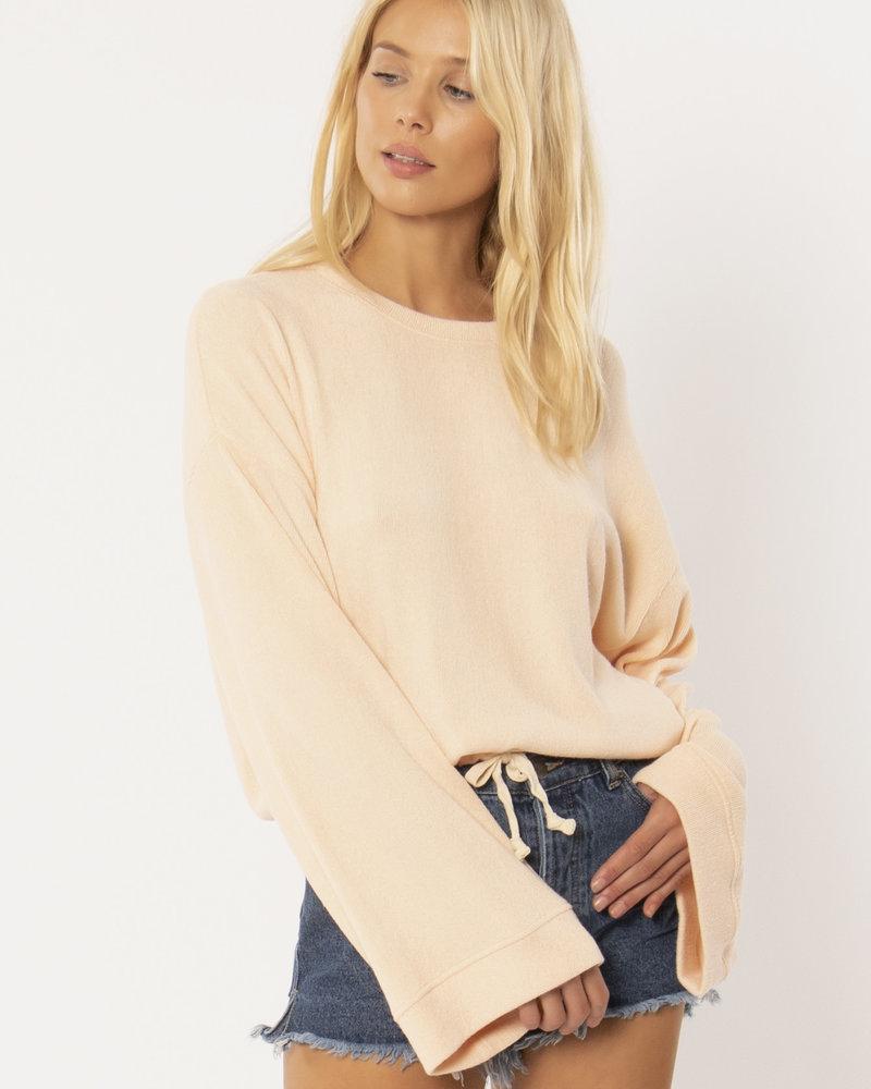 Cosi Long Sleeve Fleece Top | Apricot
