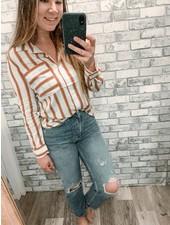 Rust Stripe Blouse