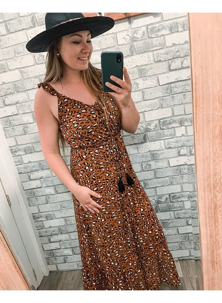 Rust Leopard Maxi Dress